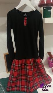 vestido-tartan-camiseta-ginger-y-tulula-chica-diver-chula-amigas-y-negocios